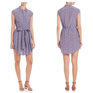 TORY BURCH Gigi Silk Shirt Dress Mosaic Print 0